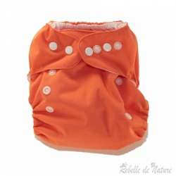 Couche lavable so easy p'tits dessous orange - www.rebelledenature.fr