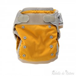 Couche lavable d'occasion Pop'in jaune Insert bambou - www.rebelledenature.fr