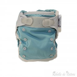 Couche lavable d'occasion Pop'in bleue Insert bambou - www.rebelledenature.fr