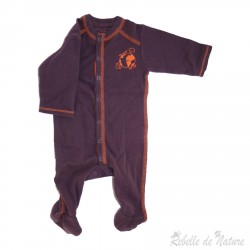 Pyjama violet en coton bio vert baudet - rebelledenature.fr
