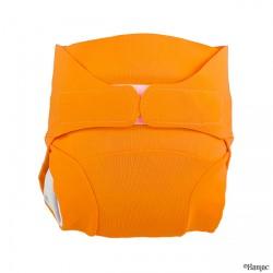 Couche lavable Tmac orange vue face - www.rebelledenature.fr