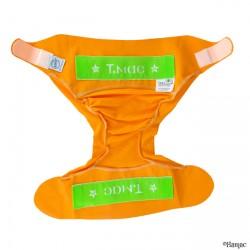 Couche lavable Tmac orange vue ouverte - www.rebelledenature.fr