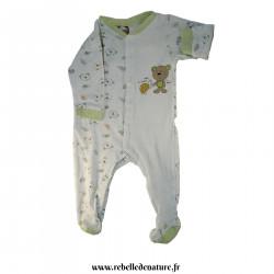 Pyjama vert et blanc en...