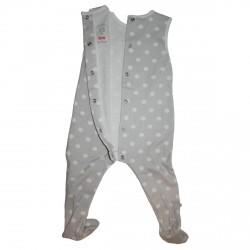 Pyjama manches courtes gris...