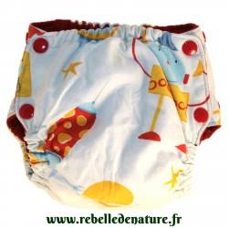 Couche lavable d'occasion pomme cerise www.rebelledenature.fr