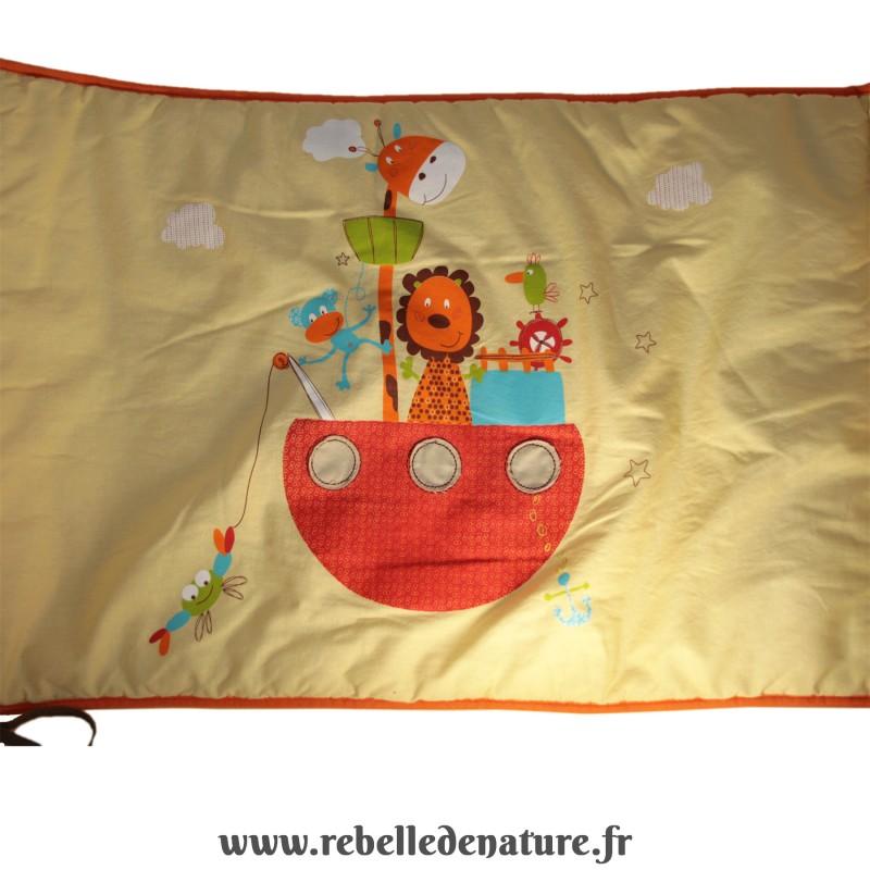 Tour de lit P'tit basile d'occasion en coton biologique - www.rebelledenature.fr