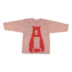 Tee-shirt rose avec un ours...