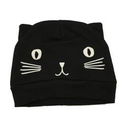 Bonnet noir petit chat