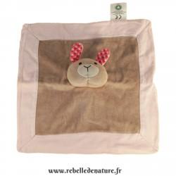 Doudou nature et découverte lapin en coton bio d'occasion - www.rebelledenature.fr