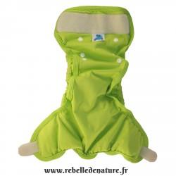Couche lavable verte d'occasion p'tits dessous - www.rebelledenature.fr