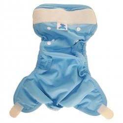 Couche lavable bleue d'occasion p'tits dessous - www.rebelledenature.fr