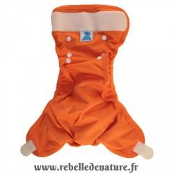 Couche lavable orange d'occasion p'tits dessous - www.rebelledenature.fr