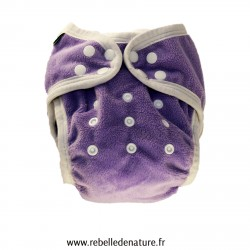 Couche lavable b'bies d'occasion violette - www.rebelledenature.fr