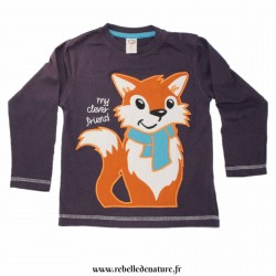 Tee-shirt d'occasion renard en coton bio