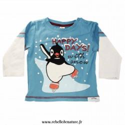 Tee-shirt d'occasion pingouin en coton bio - www.rebelledenature.fr
