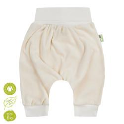 Pantalon sarouel en velour de coton bio