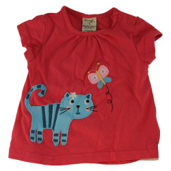 Tee-shirt Frugi rose