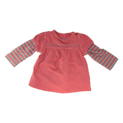 Tee-shirt rose avec manches...