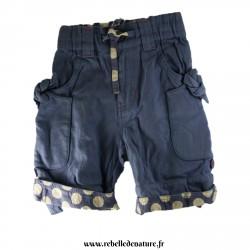 Pantalon bleu frugi en coton biologique d'occasion- www.rebelledenature.fr