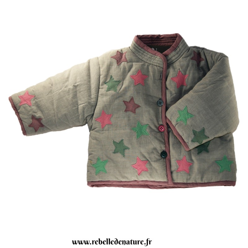 Veste épaisse étoiles en coton bio Bishopston Trading Compagny -www.rebelledenature.fr
