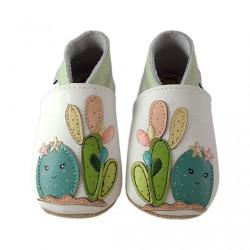 Chaussons en cuir Cactus