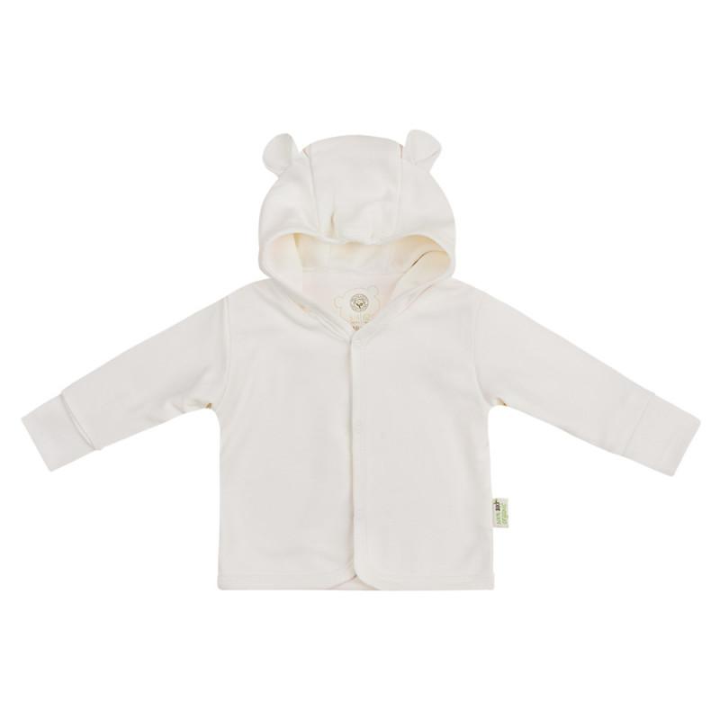 Veste bébé à capuche en coton bio