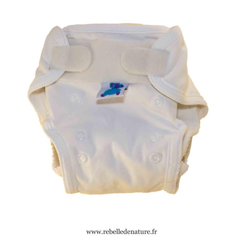 Couche lavable blanche d'occasion p'tits dessous - www.rebelledenature.fr