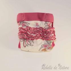 Couches lavables d'occasion gDiapers motif fleur TE3 - www.rebelledenature.fr