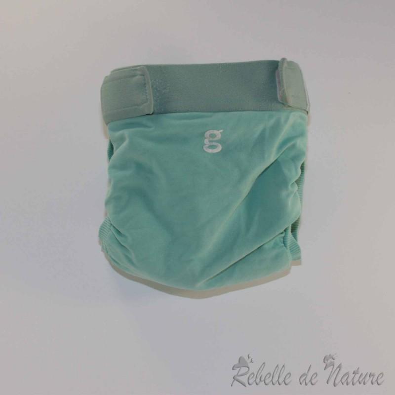 Couches lavables d'occasion gDiapers bleue TE3 - www.rebelledenature.fr